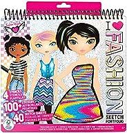 Fashion Angels Fashion Design Sketch Portfolio (11451), Sketch Book for Beginners, Fashion Sketch Pad with Ste