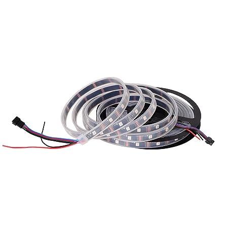 BTF-LIGHTING 16 5Ft 5M APA102 30 Pixels/Leds/m 150leds Waterproof IP67 in  Tube Black PCB DATA and CLOCK seperately DC5V Individual Adressable Full