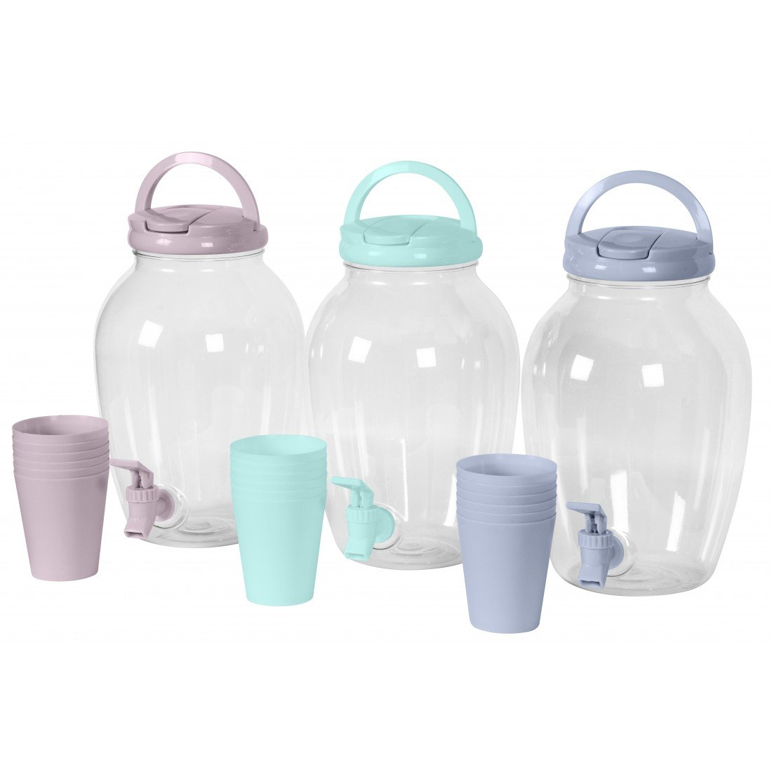 Compra Dispensador de bebidas 4 L Dispenser 6 vasos agua dispensador de limonada icetea surtidor en Amazon.es