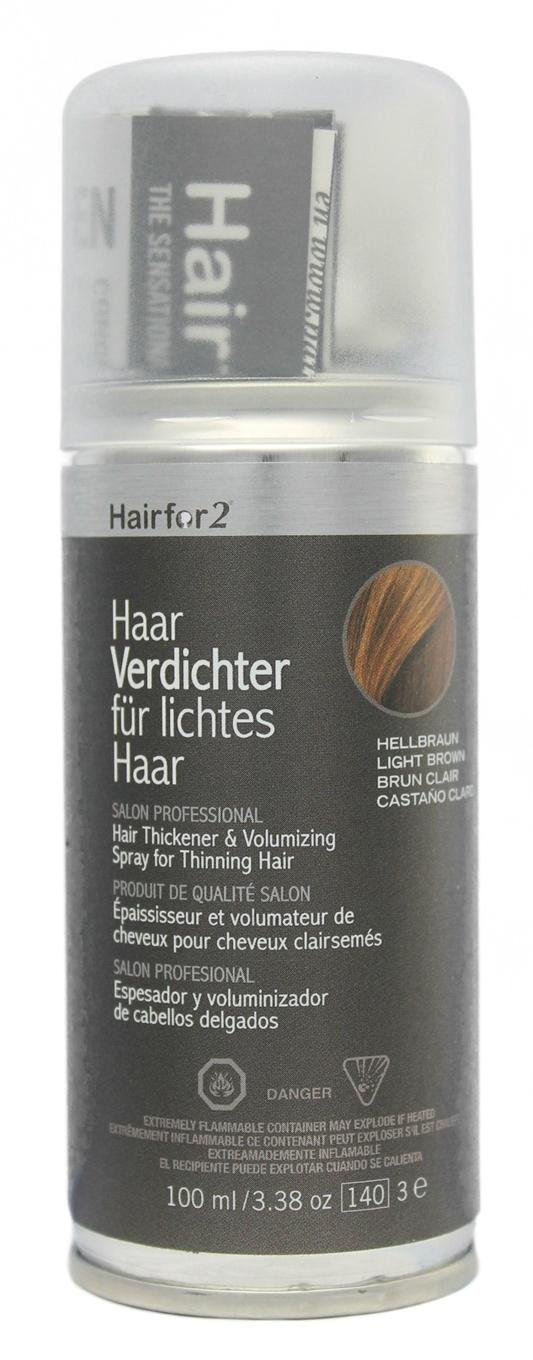Hairfor2 Hair Thickening Spray Color Light-Brown - 100 ml: Amazon.es: Belleza