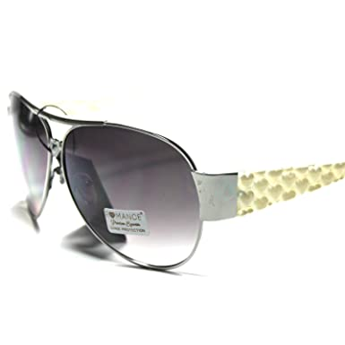 a58daf8008d4 Image Unavailable. Image not available for. Color   RO3-S3 Romance Eyewear  Elegant Fashionable Women s Aviator Sunglasses