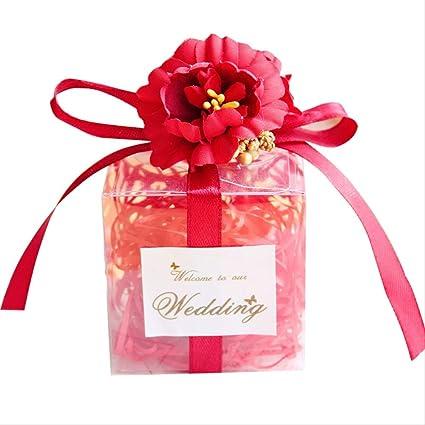 bolsas de regalo Romántico nudo transparente caja de boda ...