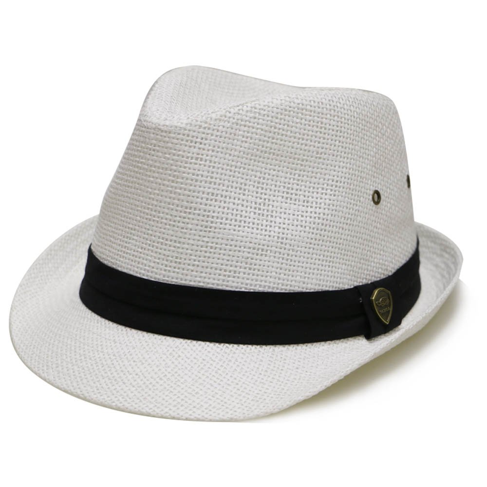 Pamoa Pms500 Solid Paper Toyo Straw Fedora Hat 4 Colors