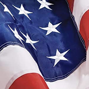 Grace Alley American Flag: 5x8 FT US Flag - 100% Made In USA - Embroidered Stars and Sewn Stripes and Brass Grommets