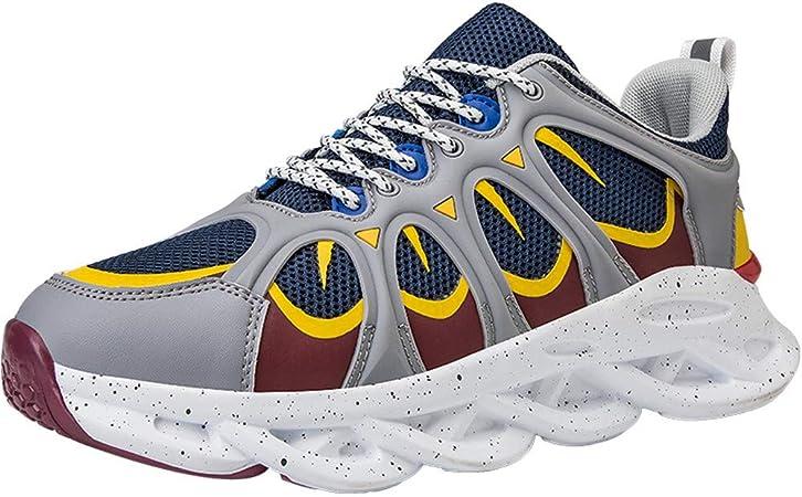 MH Zapatillas de Deporte para Hombre, Zapatillas para Correr Zapatillas de Tenis para Hombres Zapatillas de Deporte para Caminar Calzado Deportivo Transpirable Talla Informal 39-44,Gris,44: Amazon.es: Hogar