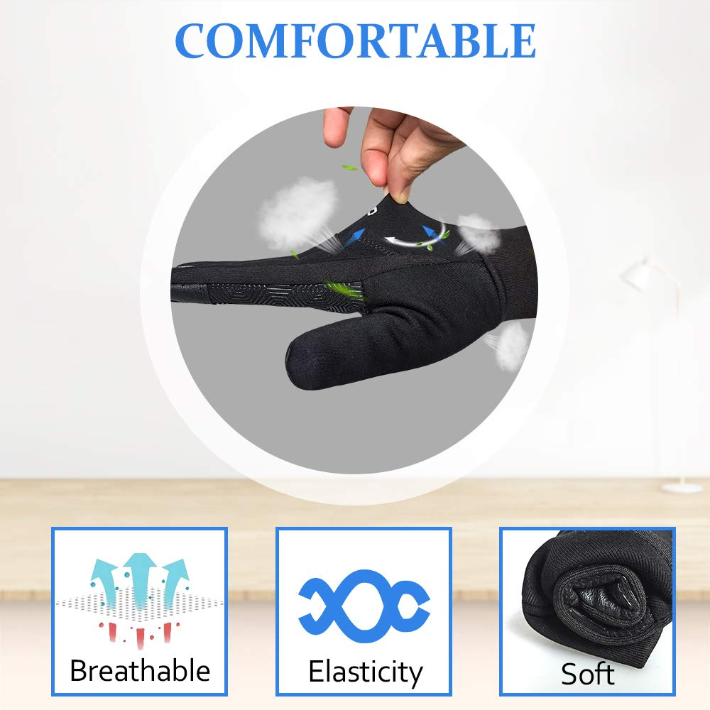 WOWARM Winter Gloves, Cycling/Driving/Gym Gloves with Touch Screen Non-Slip for Woman/Man in Cool Weather