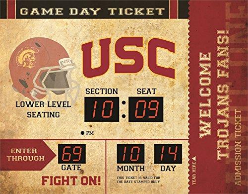 - Team Sports America NCAA Bluetooth Scoreboard Wall Clock, USC Trojans