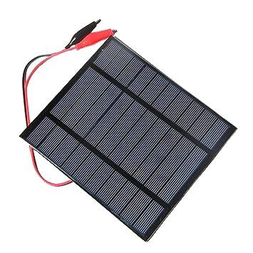 F Fityle 2.5W Panel Solar Cargador Solar Portátil Banco de ...