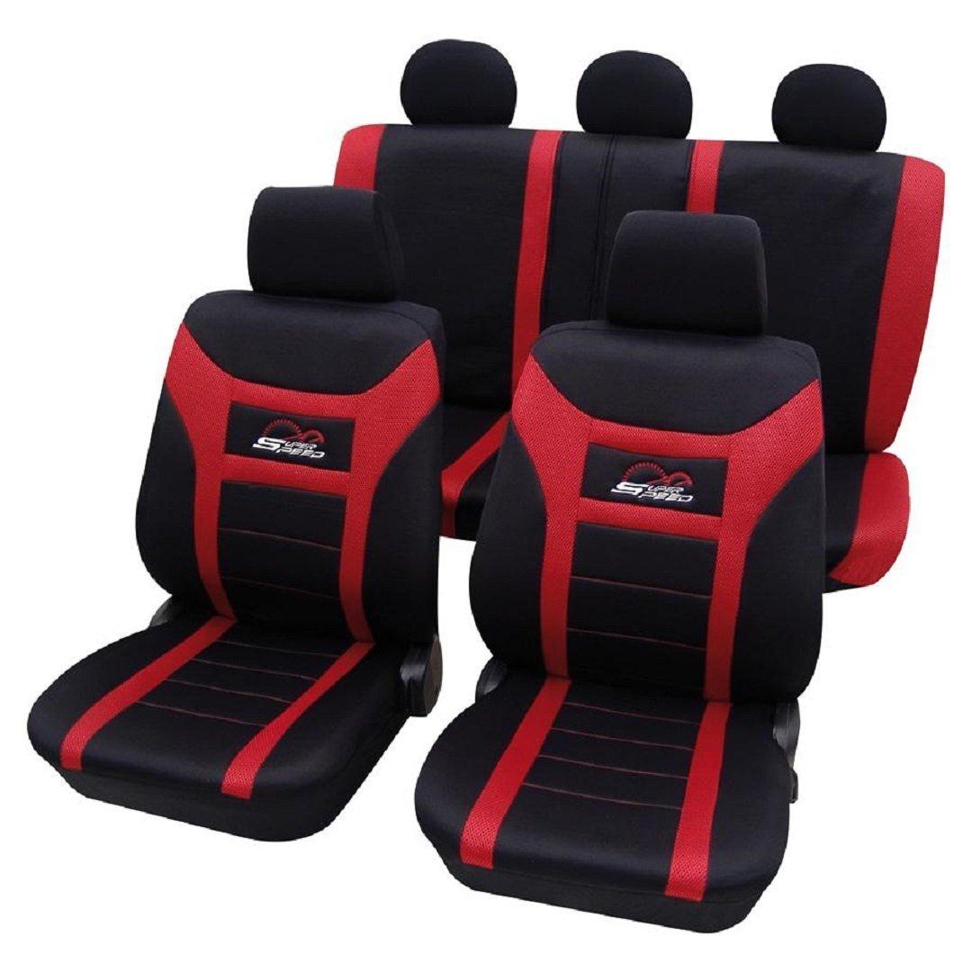 Sitzbezüge Schonbezüge SET KA Ford Transit Stoff rot