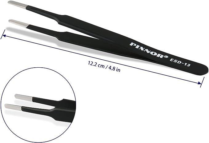 Pixnor Lot de 7 pincettes en acier inoxydable pour travaux de pr/Ã/©cision