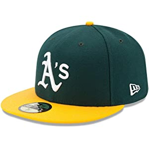 1d4cb207095 Amazon.com   MLB Oakland Athletics Authentic On Field Road 59FIFTY ...
