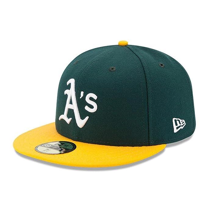 d7355c0f3eb0 New Era Mens 5950 Fitted Oakland Athletics Home Cap