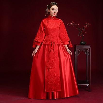 DIDIDD Boda China Boda Show Wo Wo Vestido de Novia Brindis Trajes de la Ropa Longfeng