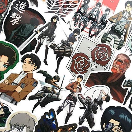 DADATU Pegatinas 42 Unids/Lote Anime Japonés Ataque En Titán Mikasa Levi Eren Pegatinas para El Teléfono Equipaje Portátil Bicicleta Etiqueta Engomada De Juguete para Niños: Amazon.es: Electrónica