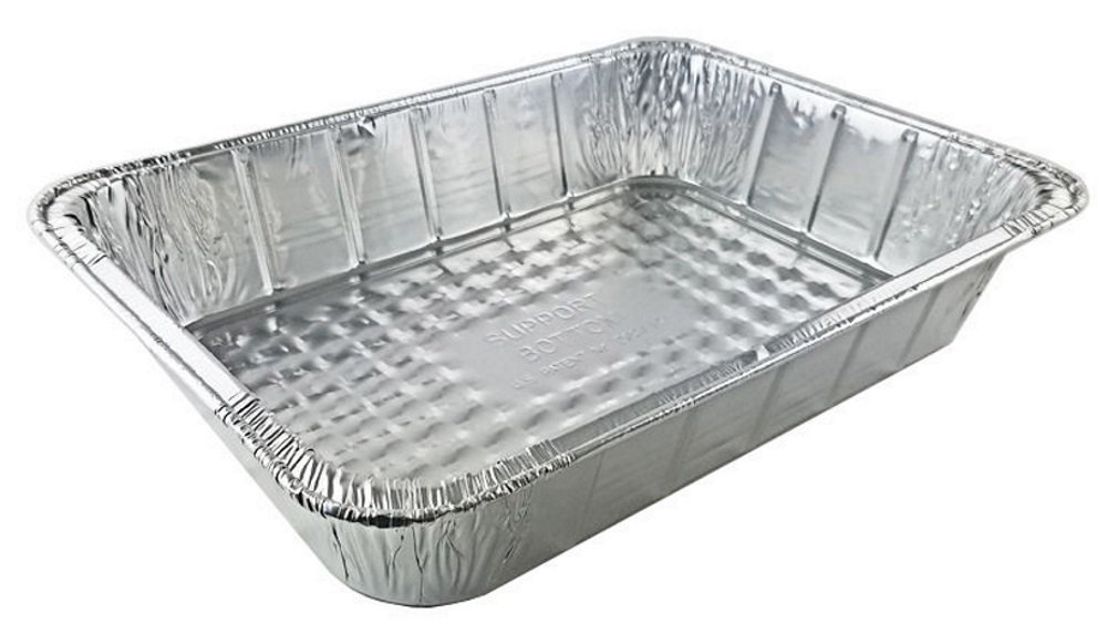 Handi-Foil 14 x 10 x 3 Deep Oblong Lasagna Casserole Aluminum Pan, 100 Pack by Hsa