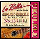 LaBella 15 Soprano Ukulele Strings, Black Nylon