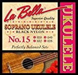 LaBella 15 Soprano Ukulele Strings, Black Nylon