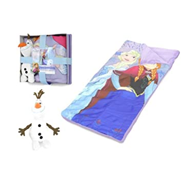 Disney Frozen - Saco de Dormir con Almohada Decorativa de Olaf: Amazon.es: Hogar