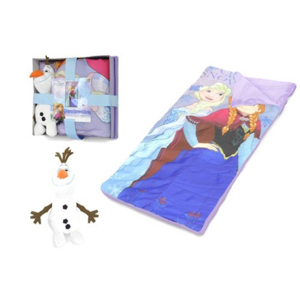 Disney Frozen Sleeping Bag with Olaf Figural Pillow