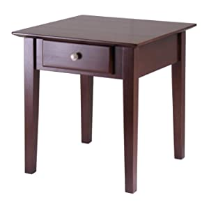 Winsome Wood 94821 Rochester Occasional Table, Antique Walnut