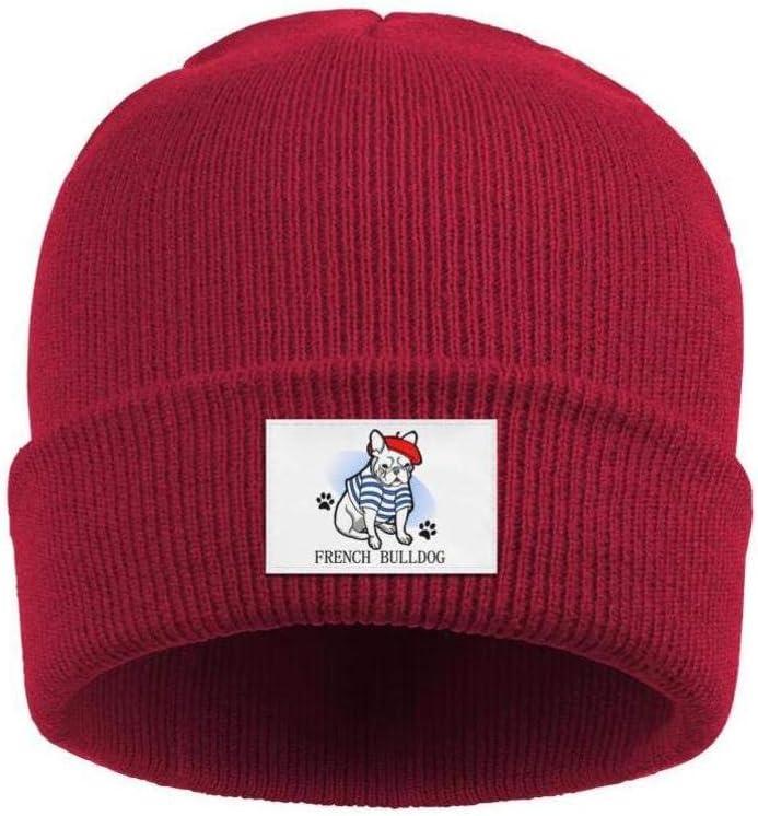 gigiring Pet French Bulldog Puppies Stretchy Cuff Beanie Hat Skull Cap for Men Women