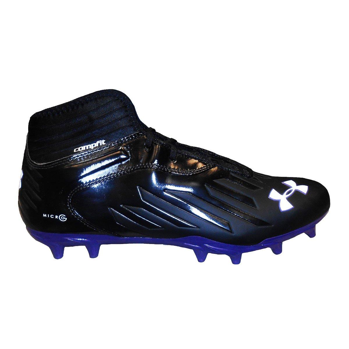 Under Armour Team Nitro IV Mid MC Compfit Football Cleats Black/Purple)