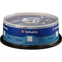 Verbatim M-Disc DVD-R 4.7GB 4X with Branded Surface - 25pk Spindle - 98908, Blue