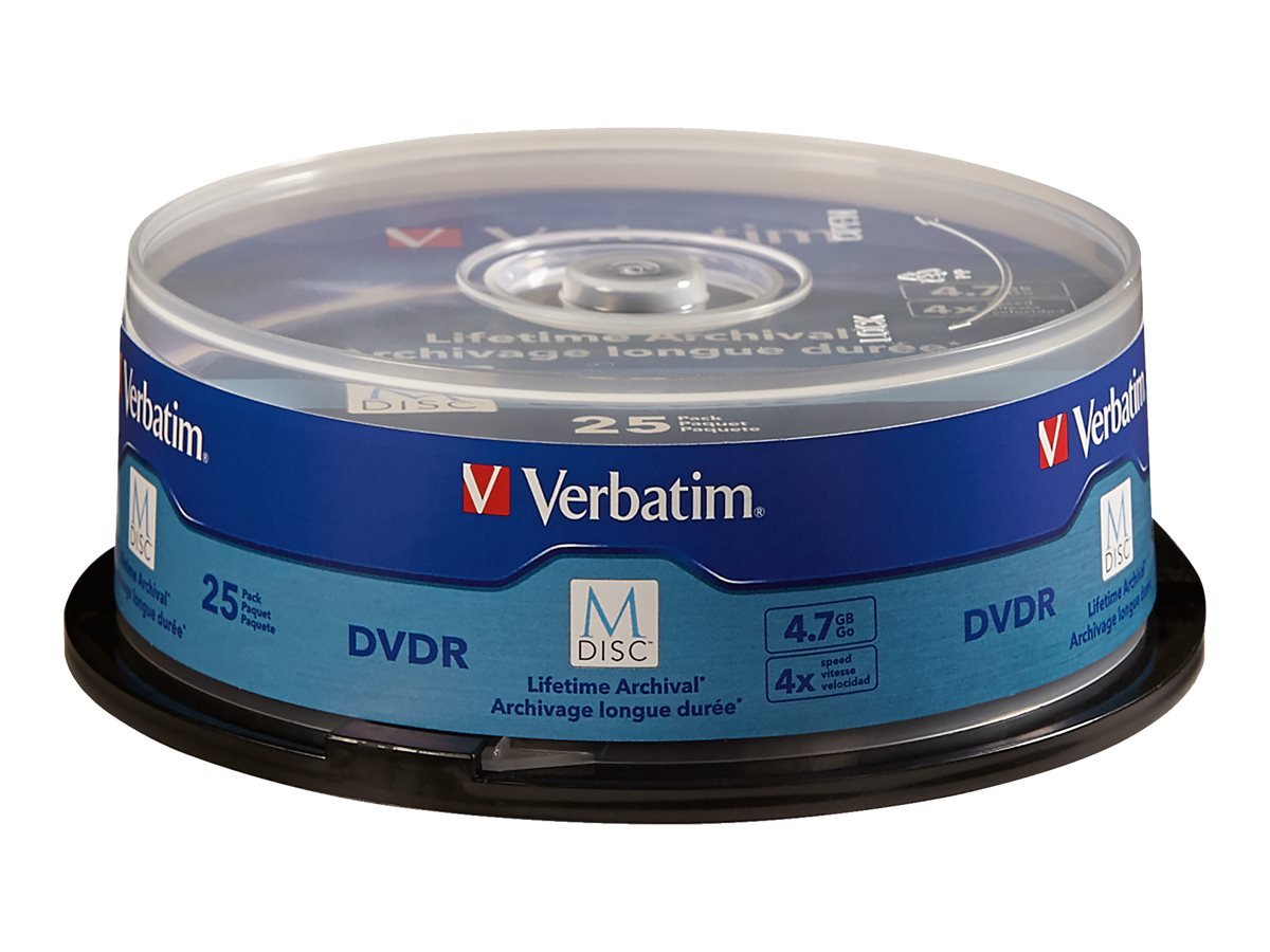 Verbatim M-Disc DVD-R 4.7GB 4X with Surface - 25pk Spindle - 98908