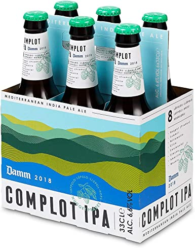 Complot Cerveza IPA - Pack de 6 Botellas 33cl: Amazon.es ...