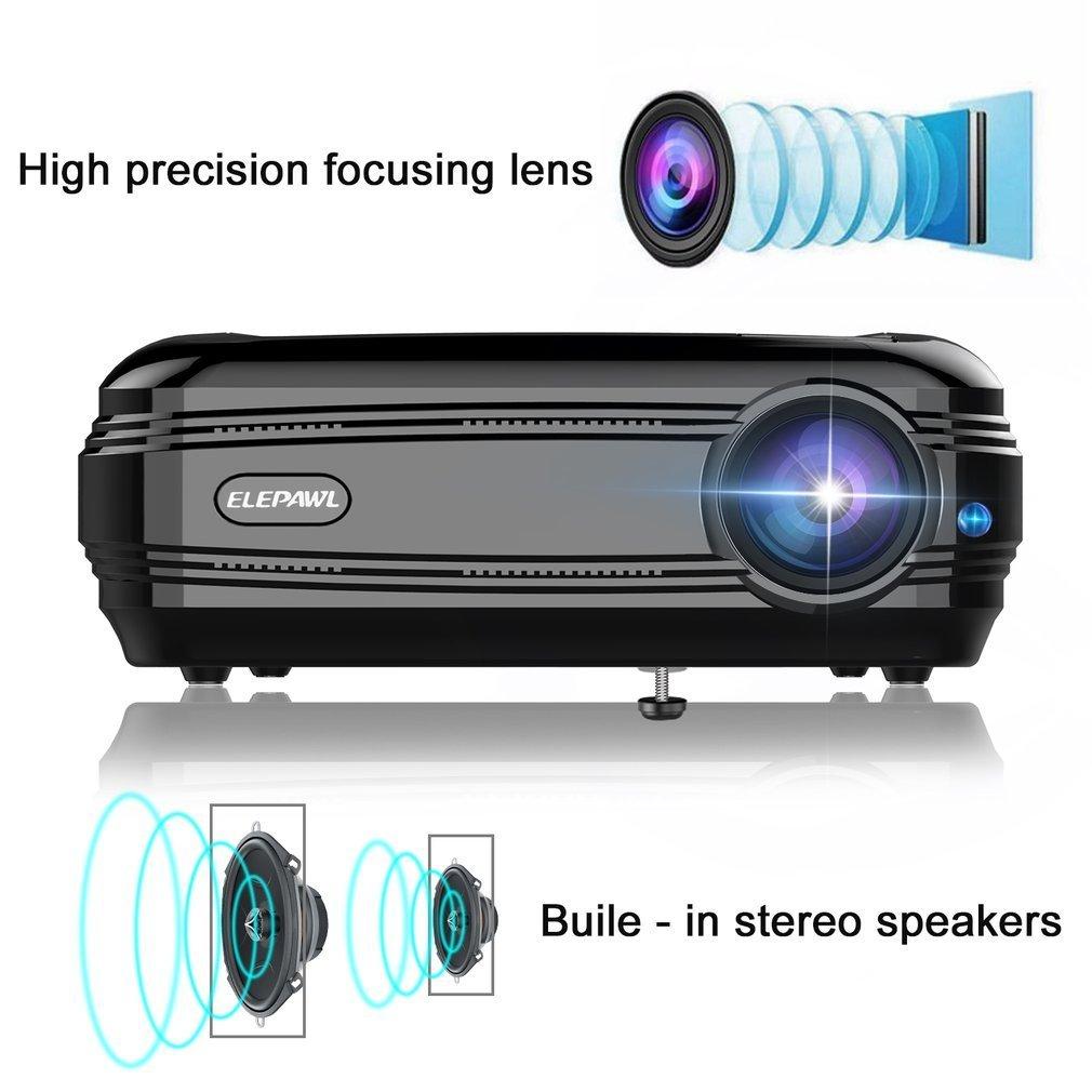 elepawl 720 P LCD Beamer video proiettore 3200 LM Multimedia Home Cinema Proiettore HDMI VGA USB per Home Theatre portatile TV gioco Video KinshopS