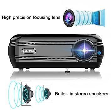Elepawl - Proyector de vídeo de 720P LCD de 3200 LM Multimedia ...