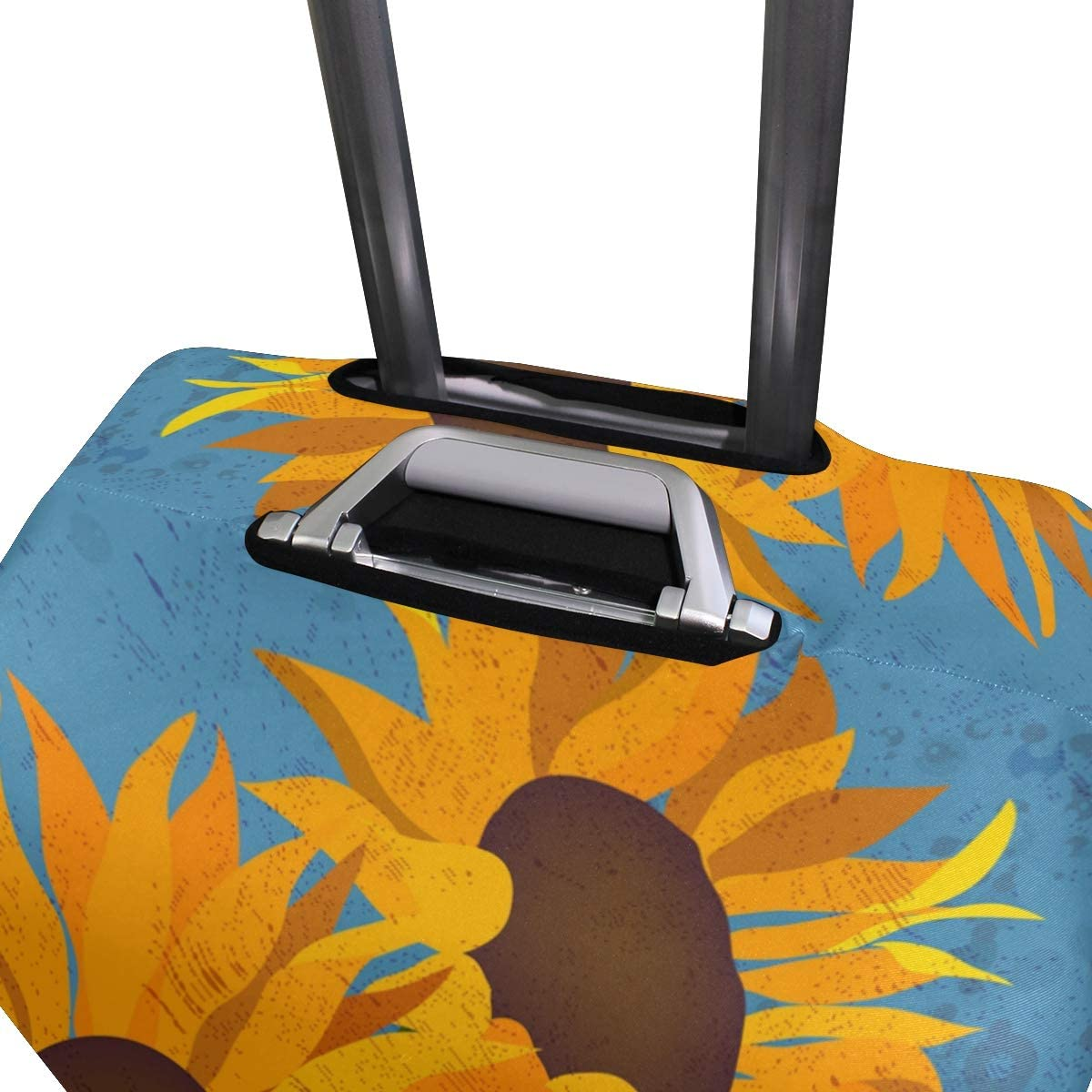 FOLPPLY Retro Sunflower Luggage Cover Baggage Suitcase Travel Protector Fit for 18-32 Inch
