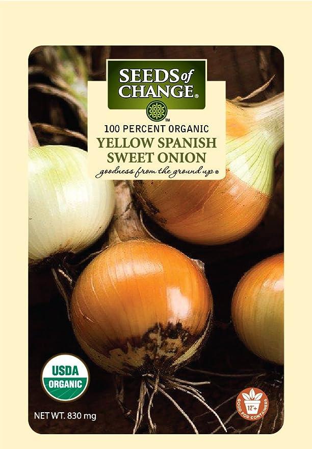Seeds Of Change 8178 Certified Organic Sweet Yellow Spanish onion