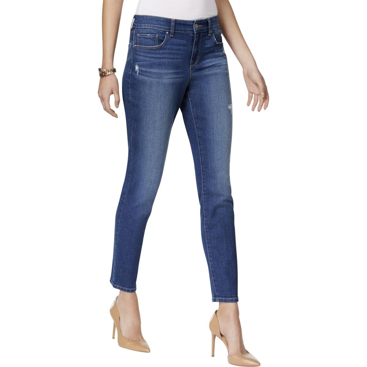 Style & Co. Womens Skinny Mid Rise Ankle Jeans Blue 16