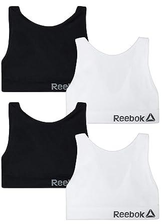 92304620 Reebok Women's 4 Pack Active Seamless Sports Bra at Amazon Women's ...