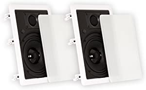 "Theater Solutions TS65W in Wall 6.5"" Speakers Surround Sound Home Theater Pair"