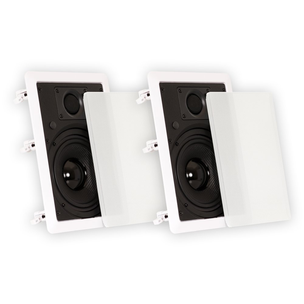 Theater Solutions TS50W 5.25-Inch Kevlar In-Wall Speakers, White