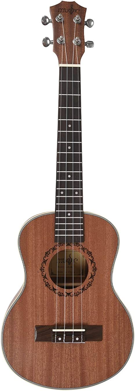 CUHAWUDBA Tenor Acústico Eléctrico Ukulele 26 Pulgadas Guitarra 4 ...