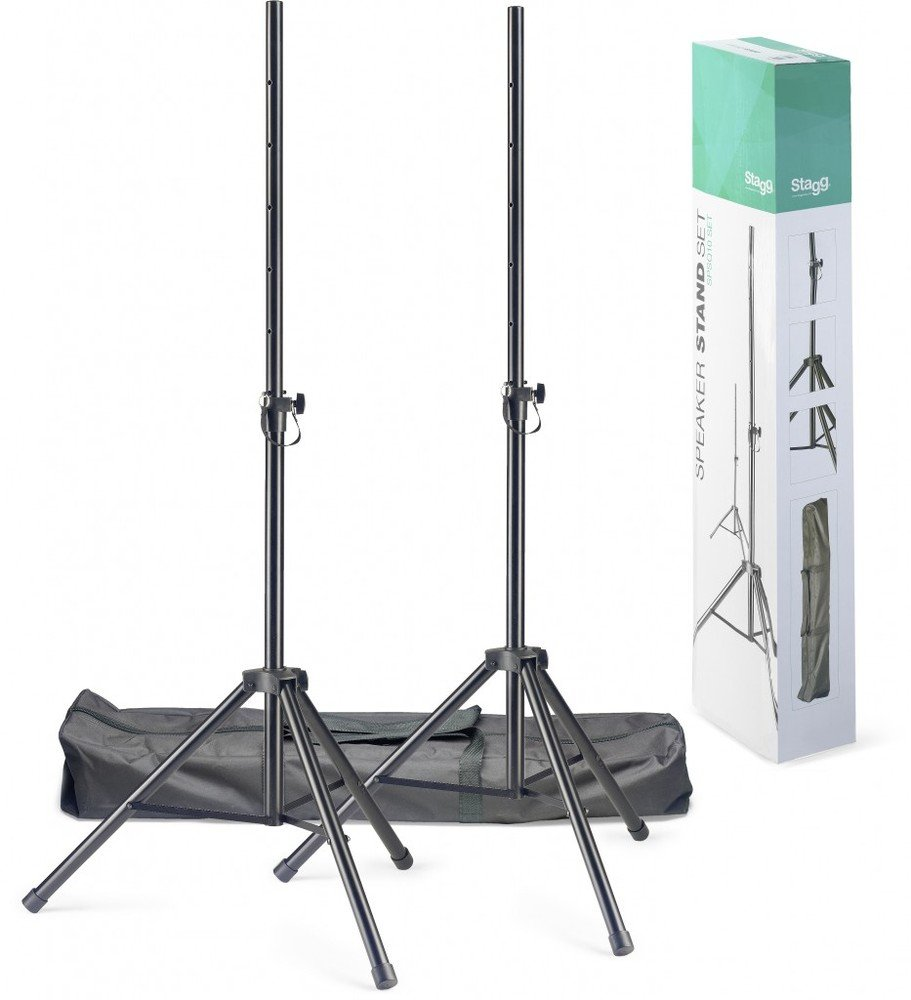 Stagg 22060 Speaker Stand with Bag (Pack of 2) Set Of 2 Speaker Stands + Bag