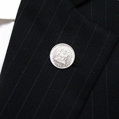 South Africa Coin Tie Tack Lapel Pin juwele Suid-Afrika Johannesburg Durban Authentic LDS Missionary