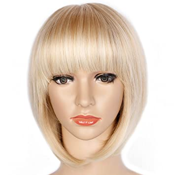 WOMEN/'S LADIES FASHION BOBBED COLOURED WIGS COSTUME WIGS WITH FRINGE COSPLAY