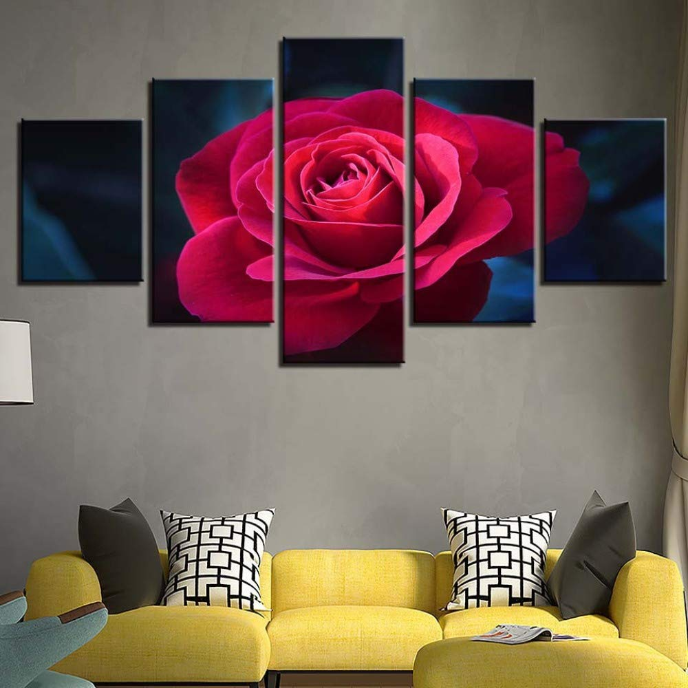 adgkitb canvas HD Frame Wall Art Picture Flores Pintura ...