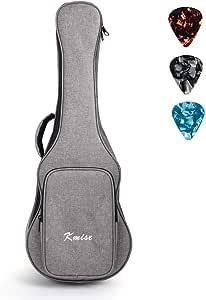 Kmise Soprano Ukulele Gig Bag 21 inch Soft Carring Case Double Strap With 3 Picks