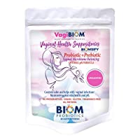 Biom Vaginal Probiotic Suppository: Natural Vaginal pH and Odor Control Regimen; Balance and Nourishes Vaginal Microbiome; No Parabens, Fragrance-Free (30)