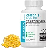 Bronson Omega 3 Fish Oil Triple Strength 2720 mg, 1250 EPA 488 DHA 180 Softgels