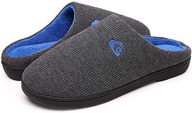 Zapatillas Casa Hombre Mujer Invierno Calido Zapatillas Memory Foam Slipper Ultraligero cómodo y Antideslizante Zapatilla de Estar por casa para Mujer Zapatillas de Interior: Amazon.es: Zapatos y complementos