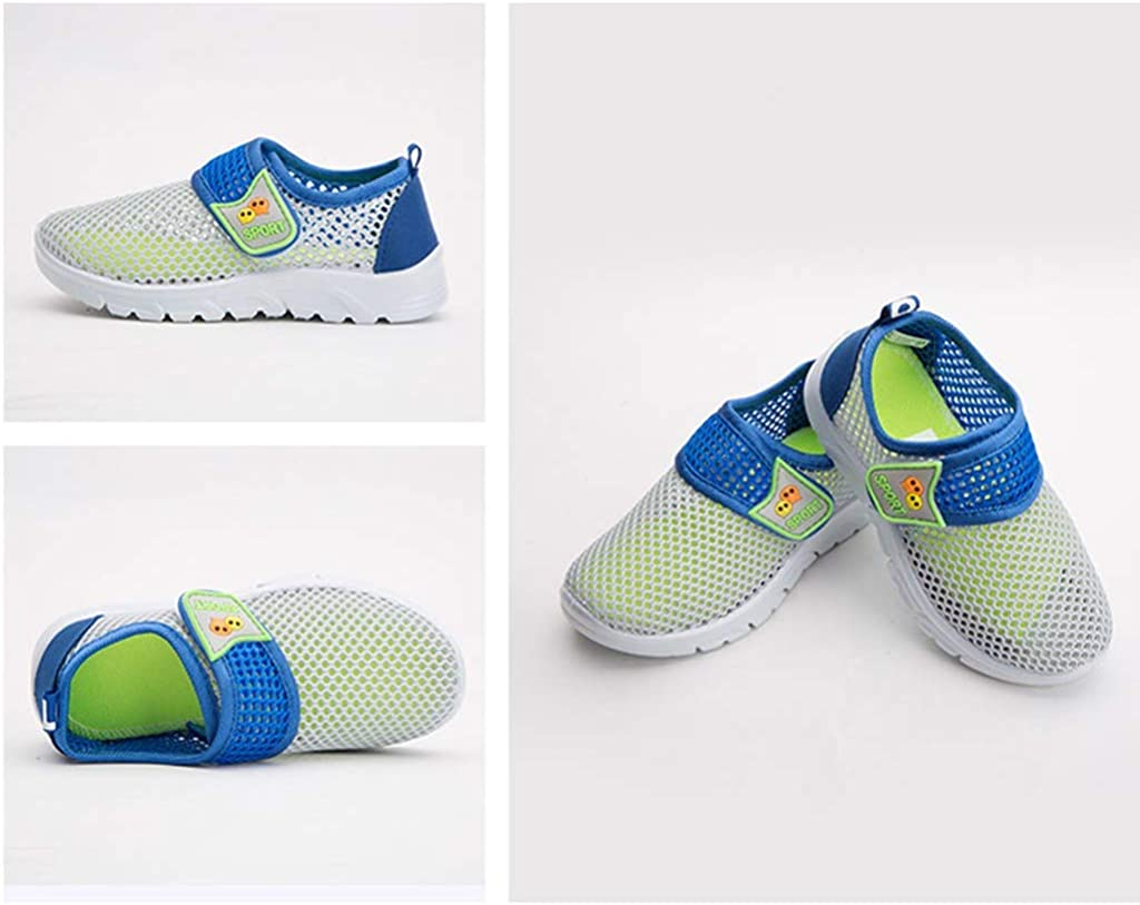 WUAI Kids Shoes Slip-on Sneakers Casual Lightweight Breathable Mesh Athletic Running Shoes for Boys Girls 1-14T