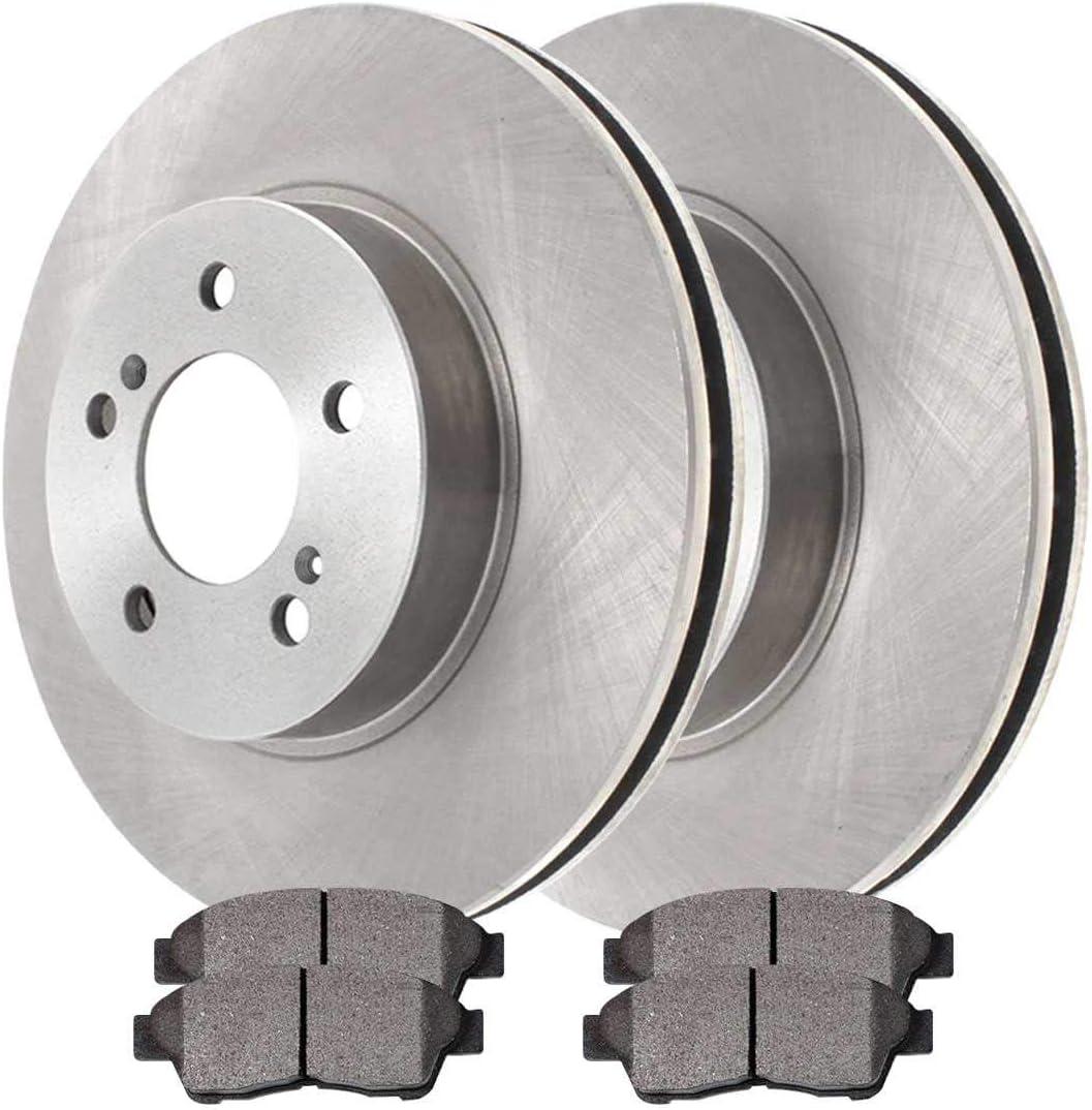 Auto Shack RSCD4293-4293-562-2-4 Front Brake Rotors and Ceramic Pads