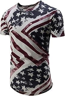 da Uomo T-Shirt Uomo Estate Manica Corta Girocollo Magliette Top Tempo Libero Chic Moda Stampa Uomo Casual Sport Tee Tops Basic