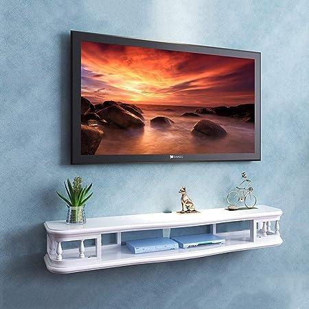 SCH Gabinete de TV Dormitorio en la Pared Sala de Estar Estante Estantería de Libros Flotante Caja Superior enrutador Estante de Almacenamiento para Consola de Juegos Panel de televisión: Amazon.es: Electrónica